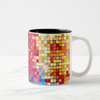 Sparkles and Squares Two-Tone Coffee Mug