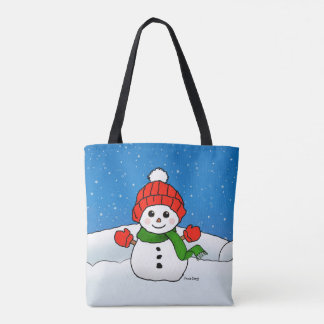 Sparkles the Snowman: Happy Holidays! Tote Bag