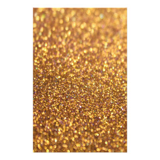 Sparkley Glitter Golden Customised Stationery