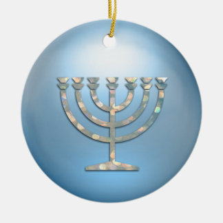 Sparkley Menorah Hanukkah Ornament