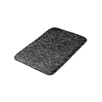 Sparkling Black Glitter Bath Mat
