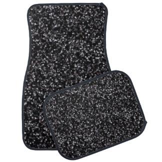 Sparkling Black Glitter Car Mat