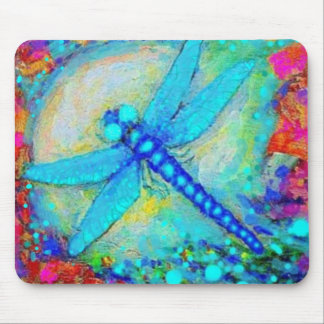 Sparkling Blue Dragonfly by Sharles Mouse Mat