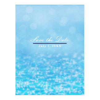 Sparkling Blue Ocean Sea Water Beach Save the Date Postcard