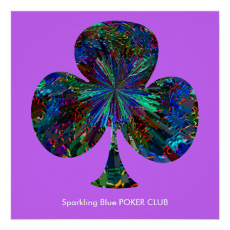 Sparkling Blue POKER CLUB Print