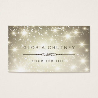 Sparkling Bokeh Glitter Appointment Card