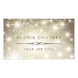 Sparkling Bokeh Glitter Appointment Card Pack Of Standard Business Cards