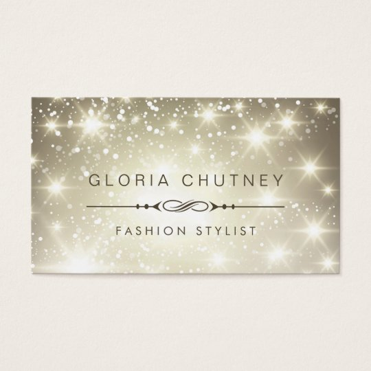 Sparkling Bokeh Glitter Look Business Card