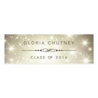 Sparkling Bokeh Personal Graduation Name Card Pack Of Skinny Business Cards