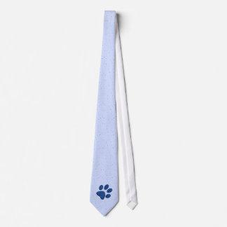 sparkling cat paw print - blue tie