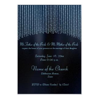 Sparkling Chain blue stylish Wedding invitations