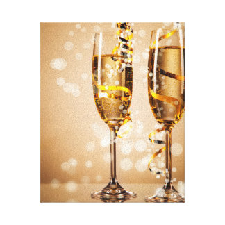 Sparkling Champagne Stretched Canvas Prints