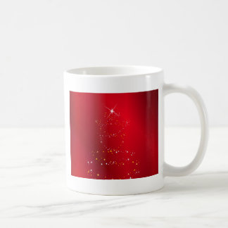 Sparkling Christmas Tree Background Coffee Mug
