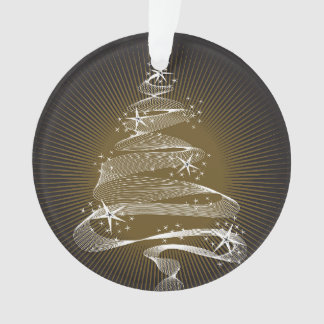 Sparkling Christmas Tree Holiday Photo Ornament