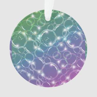 Sparkling Clear Translucent Bubbles Colorful Ornament