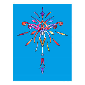 Sparkling Colorful Star Starburst Designer Sparkle Postcard