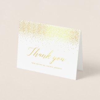 Sparkling Confetti Gold Foil Thank You Card