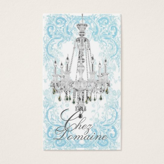 Sparkling Crystal Chandelier Business Cards
