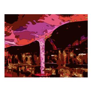 Sparkling Five Star restaurant in Vegas Postcard