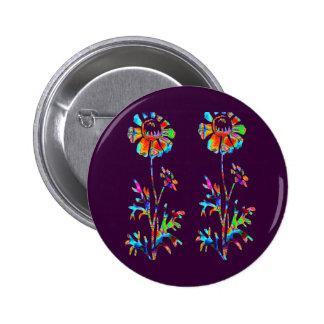 Sparkling Flowers 6 Cm Round Badge