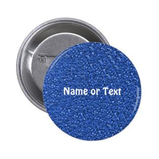sparkling glitter blue 6 cm round badge