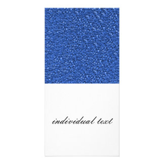 sparkling glitter blue photo card template