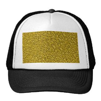 sparkling glitter golden cap