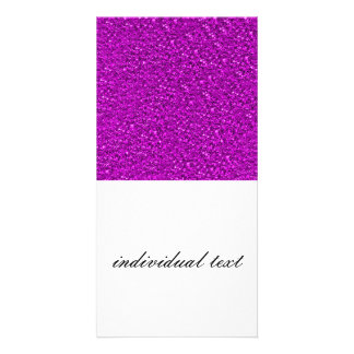 sparkling glitter hot pink personalised photo card