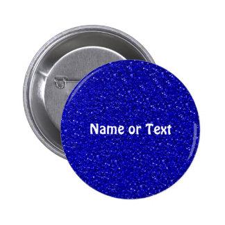 sparkling glitter inky blue. 6 cm round badge