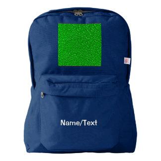 sparkling glitter neon green backpack