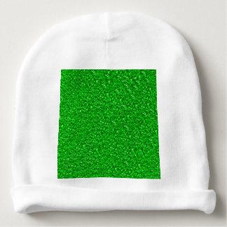 sparkling glitter neon green baby beanie