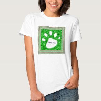 sparkling glitter neon green tee shirt
