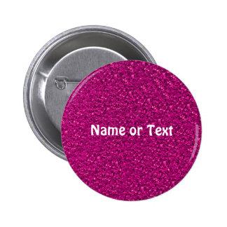 sparkling glitter pink 6 cm round badge