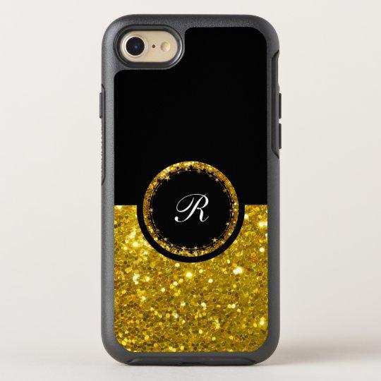 Sparkling Gold Glitter Bling Design OtterBox Symmetry iPhone