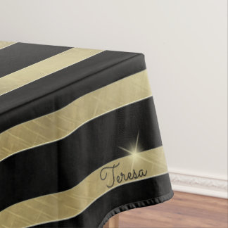 Sparkling Gold Stripe ID285 Tablecloth