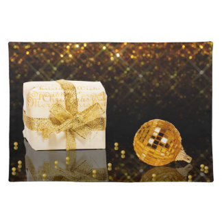Sparkling Golden Christmas - Cloth Placemat