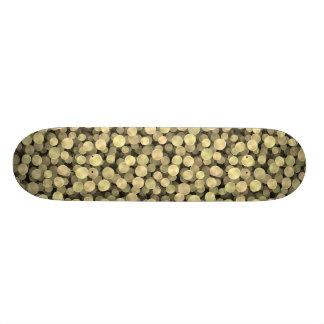 Sparkling Golden Polka Dots 20.6 Cm Skateboard Deck
