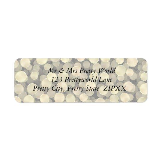 Sparkling Golden Polka Dots Return Address Label