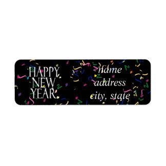 Sparkling Happy New Year Return Address Label