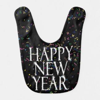 Sparkling Happy New Year Baby Bibs