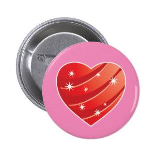 Sparkling Heart Button Badge
