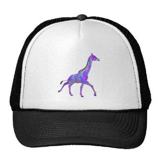 Sparkling Hippie Style Purple Giraffe Cap