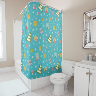 Sparkling Holiday Design Shower Curtain