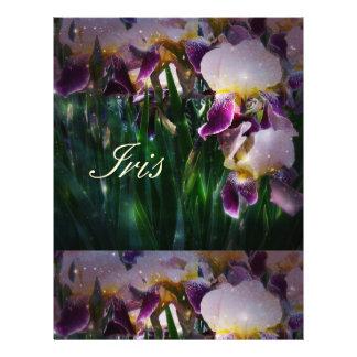 Sparkling Irises 21.5 Cm X 28 Cm Flyer
