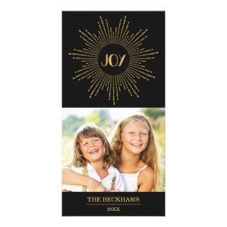 Sparkling Joy Holiday Photo Card / Gold Black