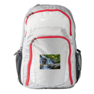 sparkling jump of a waterfall on  Nike backpack, Backpack