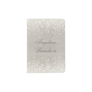 Sparkling Light Glitter Elegant Passport Holder
