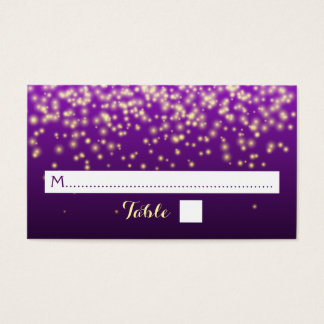 Sparkling lights in the sky wedding place card