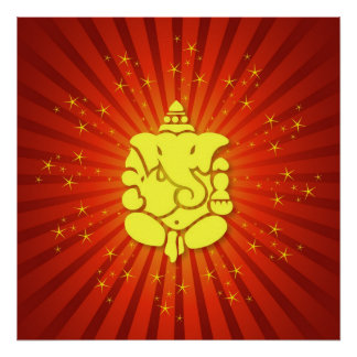 Sparkling Lord Ganesha Poster