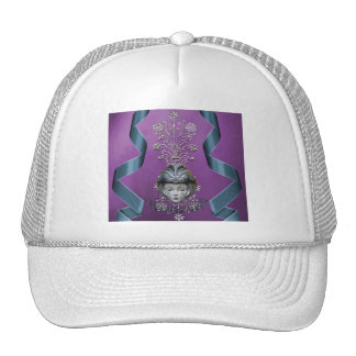 Sparkling Mardi Gras Party Mask & Streamers Cap